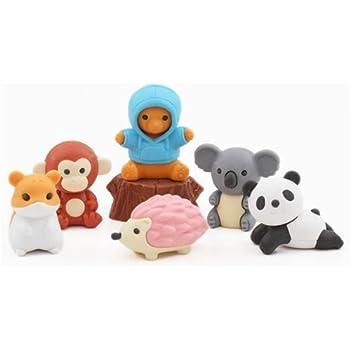 Iwako Novelty Japanese puzzle Erasers set Sheep, Camel, Alpaca etc Savanna