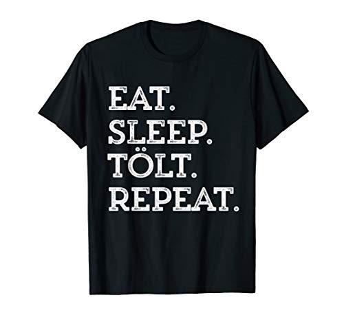 Islandpferd Eat Sleep Tölt Isländer Geburtstag Pony T-Shirts