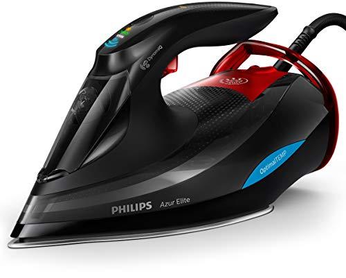 Philips Dampfbügeleisen Azur Elite GC5037/80 (3000 W, 260g Dampfstoß, OptimalTEMP, intelligentes Quick Calc-Release, DynamiQ-Modus) schwarz
