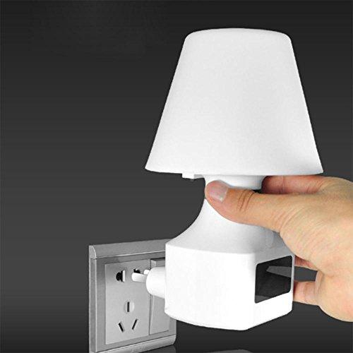TAI2 Lampada da Parete LED Seeksung Fungo Luce Notturna Allattamento al Seno Sonno Letto Camera da Letto Spina e Presa Illuminazione Lampade 3000K Orologio Sveglia Telecomando Entro 10 Metri 220V, B