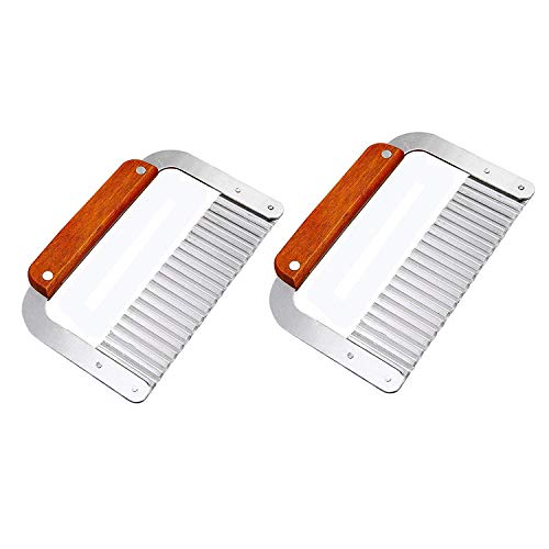 DD-life Pack of 2 Stainless Steel Wavy & Straight Soap Mold Loaf ,soap cutter Garnish Potato Vegetable Cake Cutter Cutting Tool