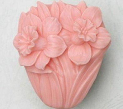 Allforhome Moule à savon en silicone Craft jonquille moules DIY Fait à la main Savon Moules