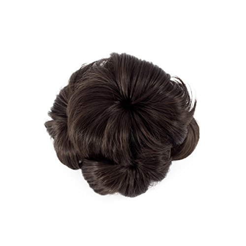 LHFLIVE Hair Donut Curly Chignon Claw In Ponytail Bride Bun Hair Extensions Synthetic Hair Piece for Women