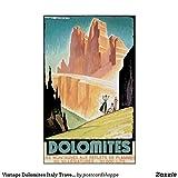 guyfam Vintage Dolomites Italy Travel Poster Art - Prefect