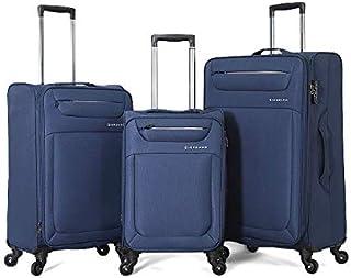 Giordano luggage - 163128 soft case trolley 3 pcs set with 4 wheel