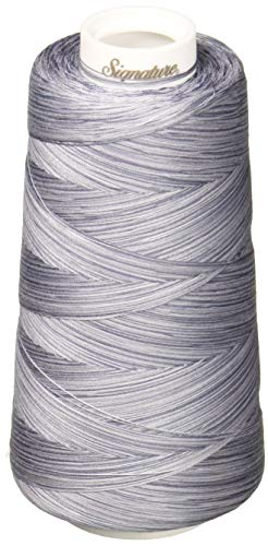 Signature 3 Ply Cotton Quilting Thread, 40wt/3000 yd, Variegated Grey Shades