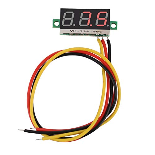 Voltímetro Digital LED, fácil de conectar Voltímetro CC Digital 0.28 ″ Transparente para Leer para automóviles para niños para Motocicletas para Bicicletas eléctricas(Red)