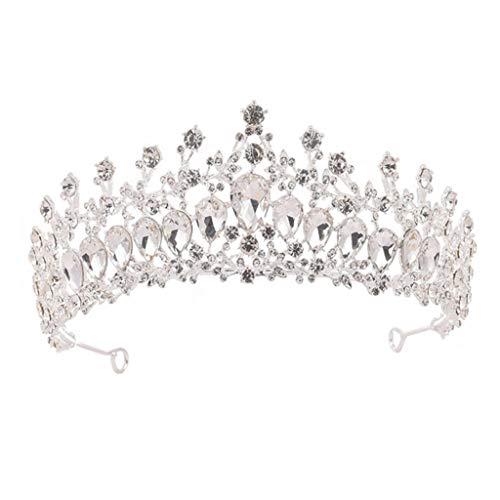 lijun Crown Rhinestone Wedding Tiaras for Costume Party Hair Accessories with Gemstone