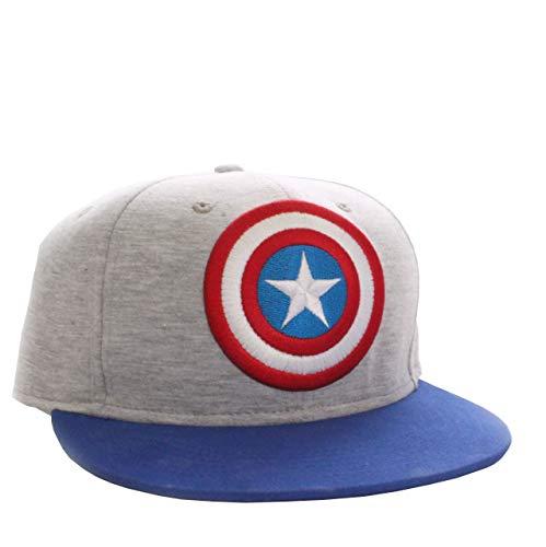 Casquette de baseball Captain America Marvel Comics - Logo (gris clair)