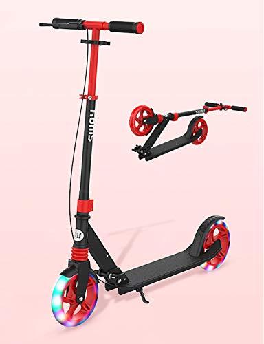 YF-Mirror Kick Scooter - Ruedas de PU Flash, Scooters para niños con Freno de Mano y Freno Trasero, Manillar Plegable y Ajustable, Ligero, Capacidad de 100 kg