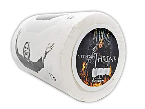BUTTSWIPES Sitting on The Throne Toilet Paper Gag Gift Stocking Stuffer (1 Roll)