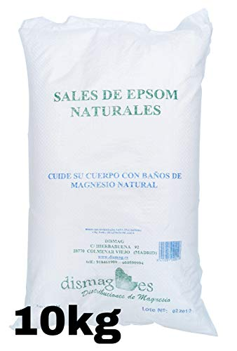 Sac Sel d'Epsom 10 Kg, Source concentrée de Magnésium, Sel 100% Naturel. Bain et Soins Personnels.Promotion, Livraison 24h