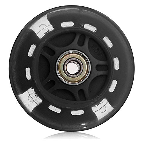 ZHHOOHAG Ruedas De Scooter 80mm Flash Wheel Scooter parpadeando Luces traseras traseras Ruedas Scooter 110mm (Color : Black)