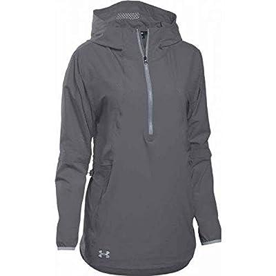 Under Armour Women's Squad Woven 1/2 Zip Jacket (X-Large, Graphite)