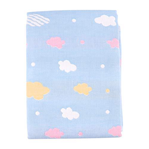 Tomaibaby Cambiador Portátil Nubes Patrón Impermeable Lavable Reutilizable Cambiador Cambiador Pañal Cuna Colchón para Niños Bebé Niño Pequeño 50X70cm Azul
