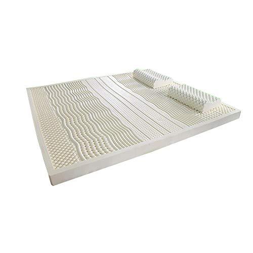 Love Home Latex Mattress Topper,medium Firm Breathable Natural Foldable Ventilated Not-slip Tatami Bed Mattress Dormitory Mattess Sleeping Mattress-white 90x190cm(35x75inch)