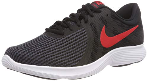 Nike Revolution 4 EU, Zapatillas de Running Hombre, Negro (Black/University Red-Oil Grey-White 061), 40.5