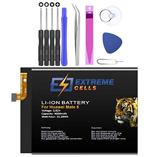 Extremecells Akku für Huawei Mate 8 + Werkzeug Set Accu Batterie Battery 4000mAh