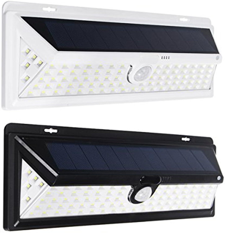 Wuchance 90 LED Solarbetriebene Bewegungssensor Wandleuchte Im Freien Wasserdichte Sicherheitsleuchte für Garten Hof (Farbe   Weiß)