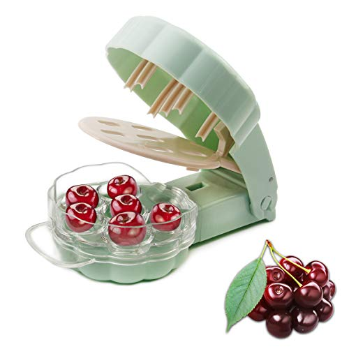 Leadrise Cherry Pitter Remover Tool Cherry Stoner Seed Extractor Remover  6 Cherries Light green