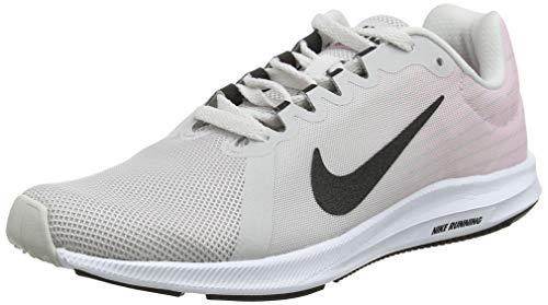 Nike Downshifter 8, Zapatillas de Running Mujer, Multicolor Vast Grey Black Pink Foam White 013, 37.5 EU
