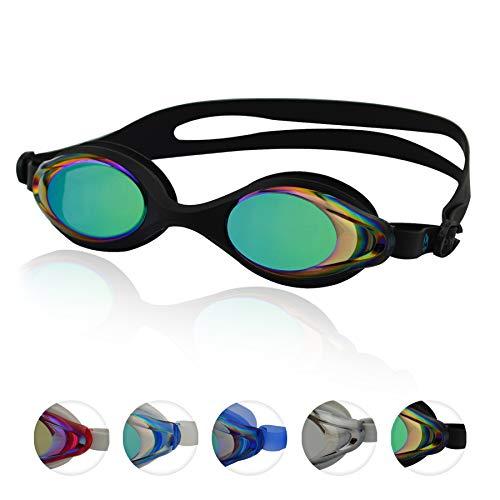 #DoYourSwimming »Barracuda« Schwimmbrille, 100% UV-Schutz + Antibeschlag. Starkes Silikonband + stabile Box. TOP-Marken-QUALITÄT! AF-400m, schwarz