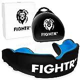 FIGHTR® Premium Protector bucal – respiración Ideal & fácil de Ajustar, protección Dental Deportiva para Boxeo, MMA, Muay Thai, Hockey y Deportes de Lucha, Incluye Caja higiénica
