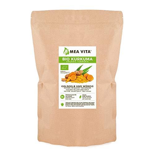MeaVita Organic Turmeric, polvere di radice di curcuma macinata, confezione da 1 (1 x 1 kg)