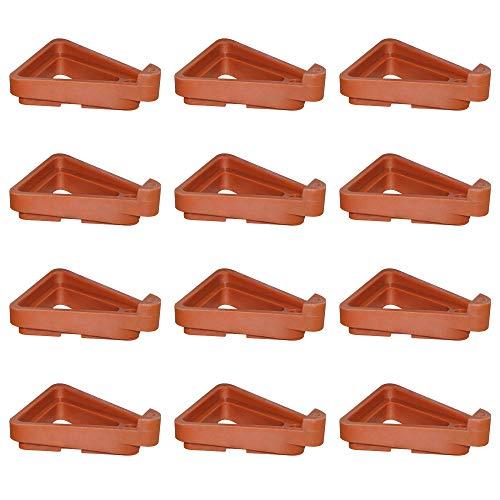 Maceta Triangular, 12 Pezzi Pies de Maceta de Plástico, Planta En Maceta Soporte para Plantas de Jardín Interiores y Exteriores, Transpirabilidad y Prevención de Pudrición