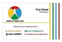 PersonalisedロゴビジネスカードカスタムデザインYour Own会社Visiting Card–フロント 1000 Cards-Matt