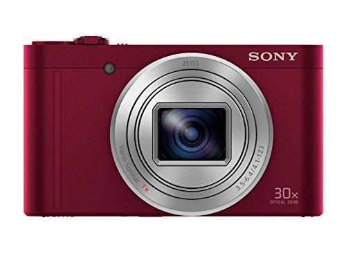 "Sony Cyber-Shot DSC-WX500 - Cámara compacta de 18 Mp (pantalla de 3"", zoom óptico 30x, sensor Exmor R, pantalla para selfies, Wi-fi / NFC), rojo"