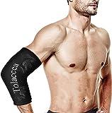 chaud et froid thérapie Packs de glaçons flexibles froid Thérapie Compression Sleeve Gel réutilisable Pack pour blessure, emballage froid pour coude, cheville, genou(M)