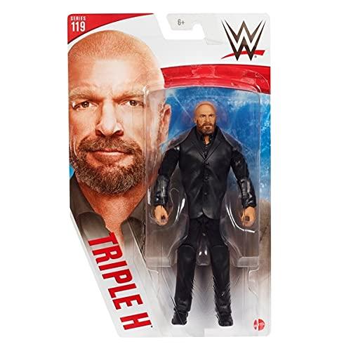WWE Serie 119 Triple H - Figura de acción de la WWE a casa - 6 pulgadas aprox.
