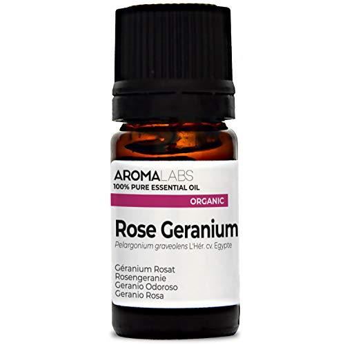 Aroma Labs Geranio Odoroso Bio - 5Ml - Olio Essenziale Bio E Naturale Al 100% - Qualità Verificata Mediante Cromatografia - Aroma Labs - 5 ml