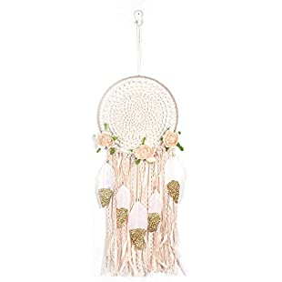 99native Handmade feather night light dream catcher girl room decoration family car ornaments, the best gift for girls and children (Multicolor 1)