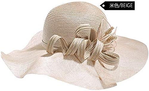 CFHJN-hat Home Strand-Sonnenhutflut des Grün Feiertags des Küstenfeiertagsonnehutes Weißlicher Größer Hutsonnenschutzstrandhut Größer