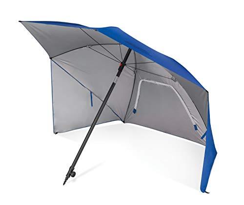 Sport-Brella Toldo de Sombra en ángulo Ultra SPF 50+ para líneas óptimas de visión en Eventos Deportivos, 8 pies, Azul