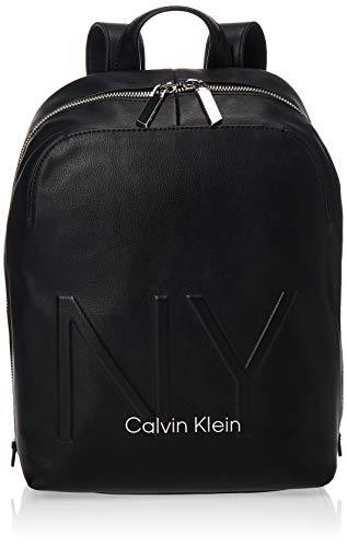 Calvin Klein - Shaped Backpack, Mochilas Mujer, Negro (Black), 0.1x0.1x0.1 cm (W x H L)