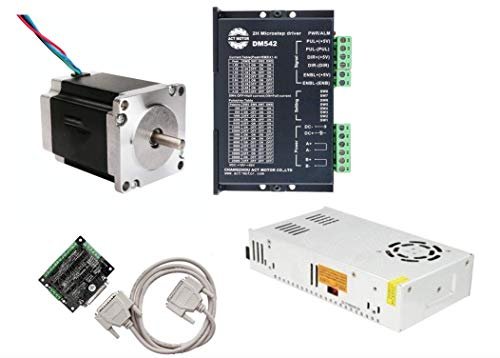 Pre-Order! Reservation first! Shipped after 30 days! DE-SHIP FREE 1Axis 23HS8430 Nema23 Stepper Motor 76mm 270oz-in Round Shaft 3.0A 1.8° bipolar Driver DM542 CNC KIT ACT MOTOR GmbH