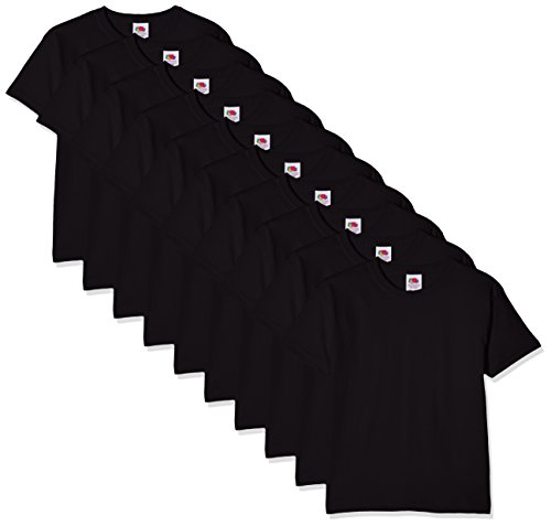 Fruit of the Loom Jungen Regular Fit T-Shirt Kids 10 Pack T-shirt, Schwarz (Black 36), 3-4 Y (Herstellergröße: 3-4 Y)