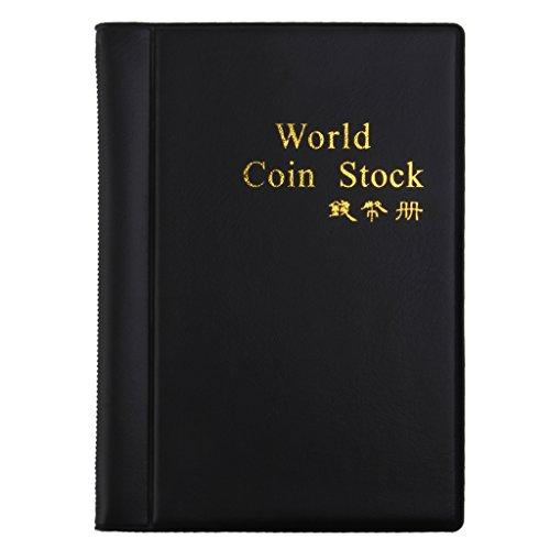 Álbum Numismático colección de monedas de almacenamiento antiguo, 120 compartimentos, 3 x 3 cm, color negro