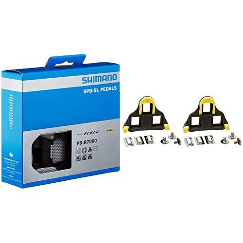 SHIMANO PD-R7000 Pedals - Black & SPD SL Cleats 6 Degree Float -