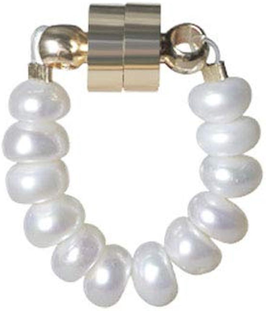 YEZININHAO Natural Freshwater Pearls Magnetic Clip-on Earrings No Pierced Ears Stud Earring - B