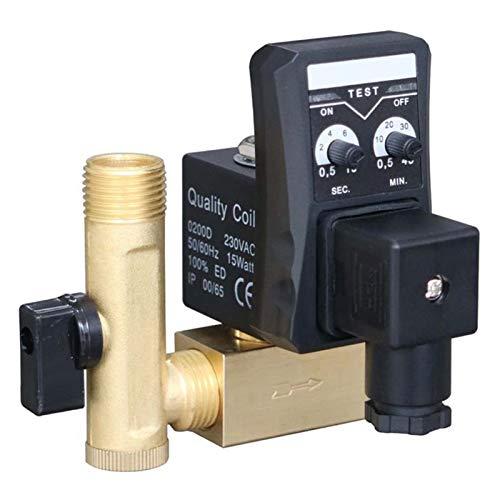 Precisión precisa 1/2 pulgada DN15 eléctrico temporizador automático válvula de agua solenoide electrónico Válvula de drenaje for compresor de aire condensado Cerámica en miniatura
