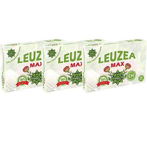 Leuzea carthamoides, Ecdysterone, Maral raíz 200mg Extracto de hierbas naturales, Resistencia y resistencia, Suplemento anabólico natural (180 tabletas)
