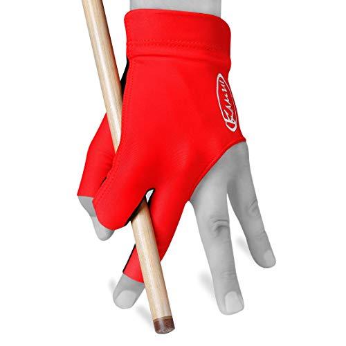 Kamui New 2017 Billard Handschuh-quickdrytm- Für Linke Hand, rot, rot