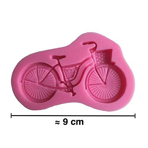 Moule silicone 3D Vélo pour pâte à sucre, cake design, décoration gateau...