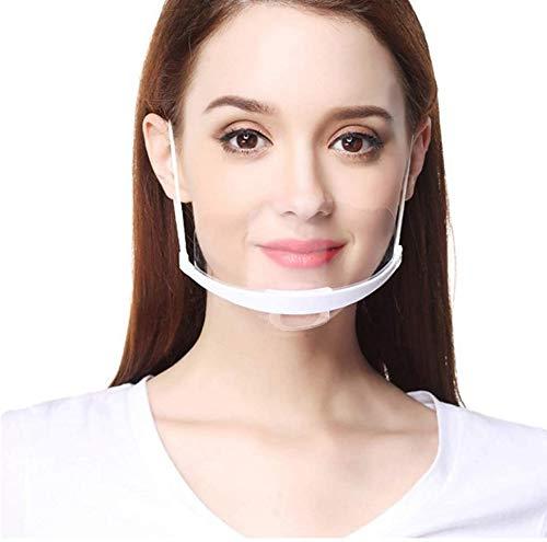 Tatopa 10 Stück Gesichtsvisier aus Kunststoff Schutzvisier Safety Gesichtsschutzschild Visier Gesichtsschutz Plexiglas Transparent Schutzvisier Mundschutz Plastik Gesichtsschutzschirm Face Shield