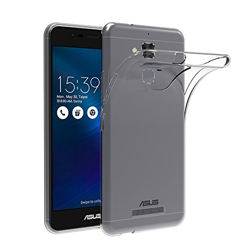 """AICEK Cover per ASUS ZenFone 3 Max ZC520TL, Cover ASUS ZenFone 3 Max 5.2"""" Silicone Case Molle di TPU Trasparente Sottile Custodia per ASUS ZenFone 3 Max"""