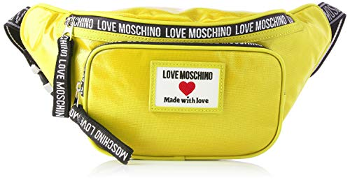 Love Moschino Precolección SS64 - Riñonera para mujer, color amarillo